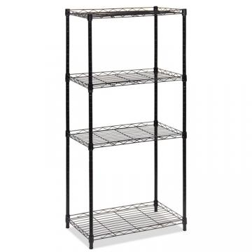 4 Tier Iron Rack, Chrome Wire Shelving Adjustable Height 4 Tier Wire Rack